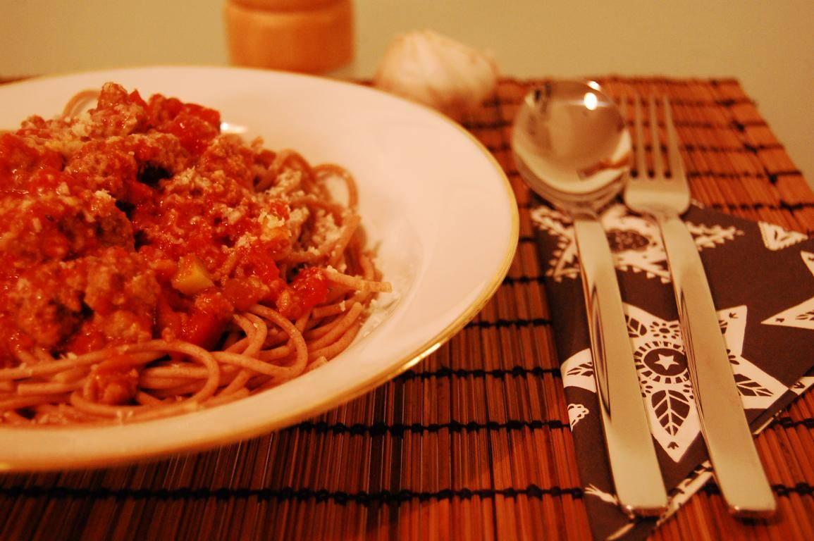 Rezept für zuckerfreie Spaghetti Bolognese